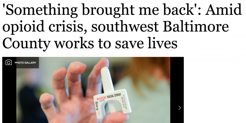 Southwest Baltimore County Opiate Crisis – an Inside Look