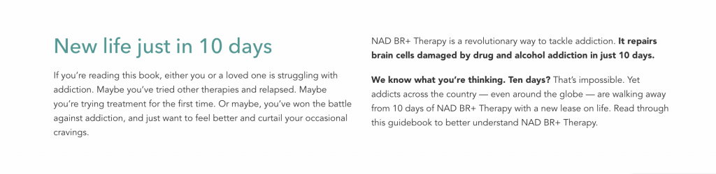 10 day inpatient nad therapy